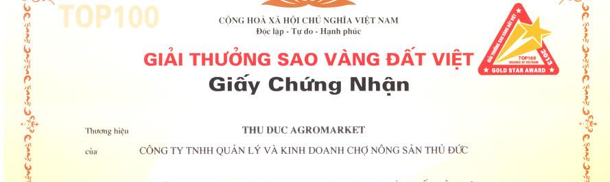 Chứng nhận Sao vàng đất Việt